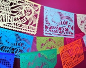 Baby Shower Decorations - BABY BLESSINGS papel picado - custom colors