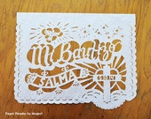 MI BAUTIZO - Baptism Christening personalized garland - Sets of 2 papel picado banners