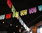 Papel Picado AMOR banners, custom color wedding decorations
