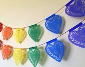 PRIDE HEARTS - Rainbow Papel Picado - Ready Made