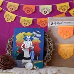 Dia de Los Muertos - Day of the Dead - Papel picado Mexican banners for your altar