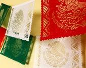 MEXICAN FLAG papel picado banner