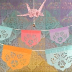 LAS FLORES mini papel picado garland - sets of 2 - Ready Made