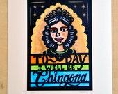 La Chingona - Giclee fine art print of original papercut, signed