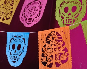 Day of the Dead papel picado banners - MUERTITOS