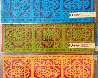 TALAVERA papel picado panels - Dia de Los Muertos - Day of the Dead - for altars, ofrendas, table runners -  Ready made