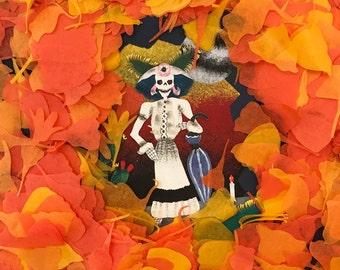 Marigold Cempasuchitl Flower Petal Confetti - Dia de Los Muertos - Day of the Dead