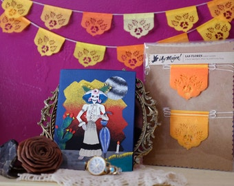 Dia de Los Muertos - Day of the Dead - Papel picado Mexican banners for your altar