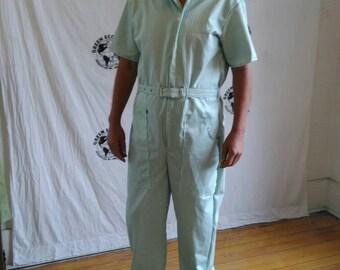 12b681c9373 Jumpsuit Men Romper hipster Sz L Hermans Vintage cotton tan