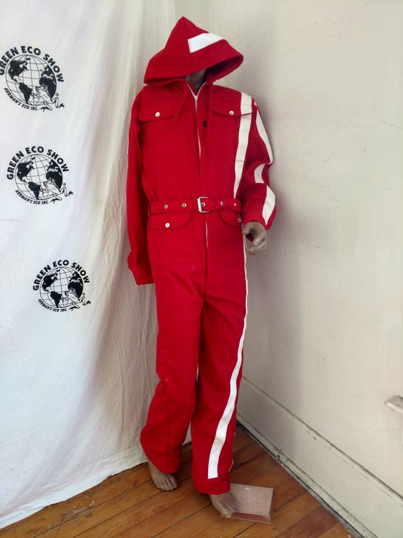 dbf38f6a169 Mens Christmas Jumpsuit Romper Hoody Hermans Eco M x 32 red