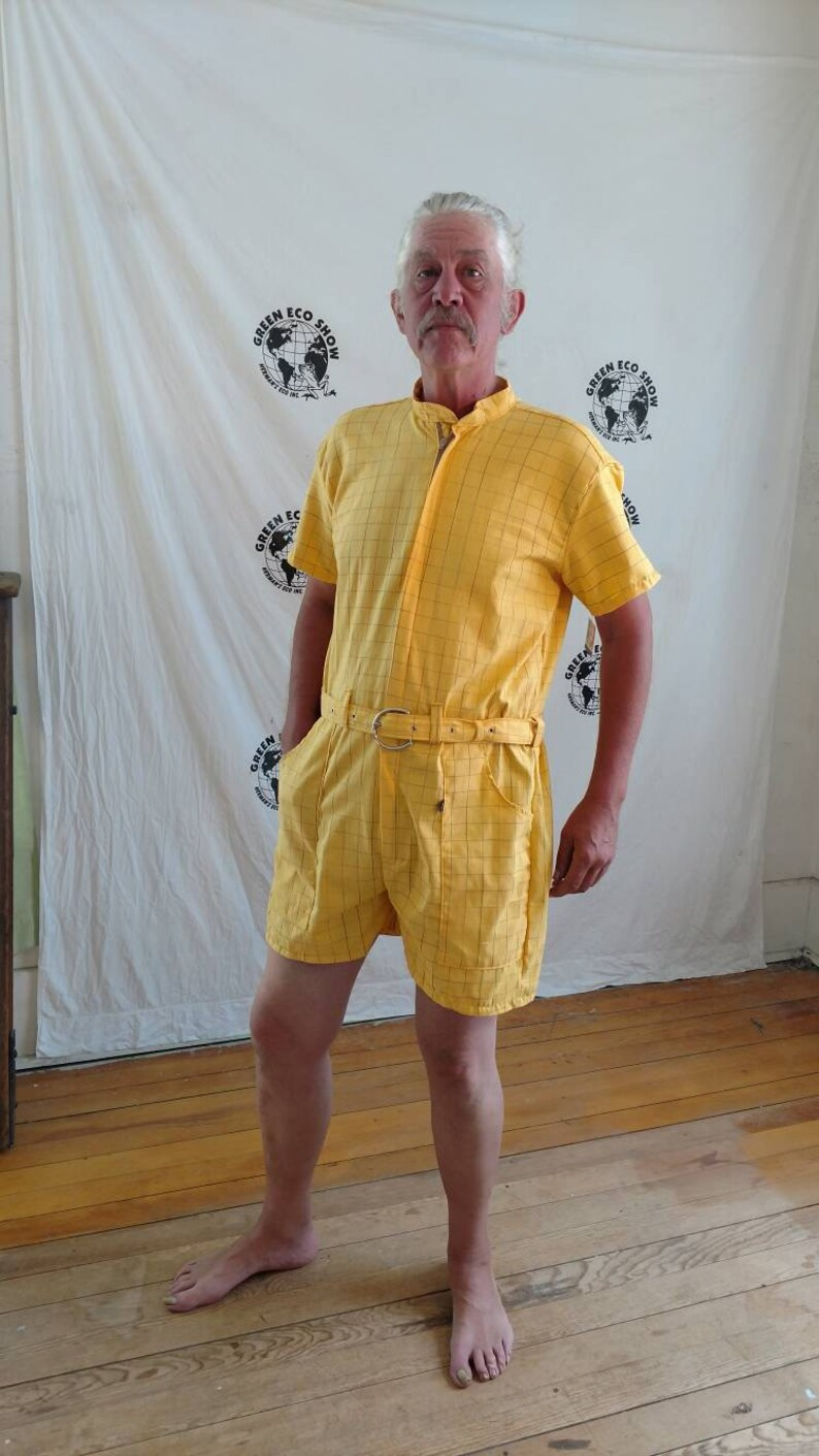 d90727b5109 Mens Romper shorts L by plaid check hipster Anna Herman USA