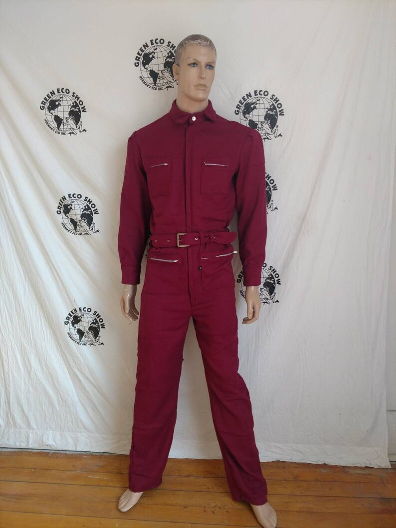 68c5cb8a570f Mens Jumpsuit Romper med to Lar maroon cotton Hermans USA