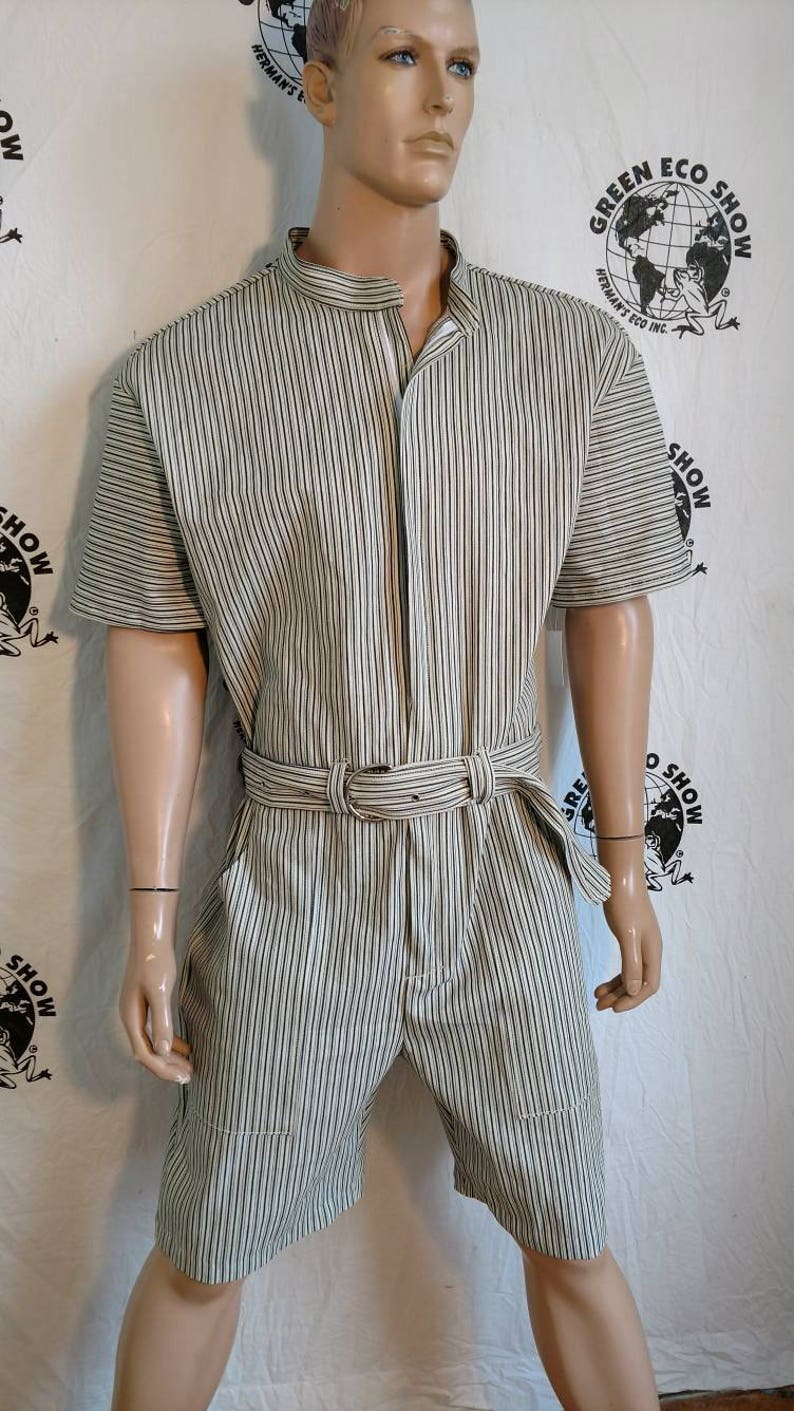 9a962f4ab89 Mens Romper shorts striped 44 XL by Anna Herman USA jumpsuit