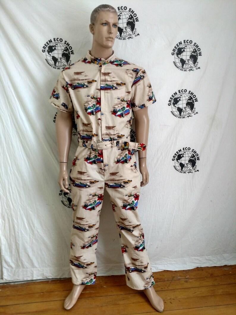 e9283e83d0f Jumpsuit Romper mens L X 30 by Herman ECO jumpsuit cotton race