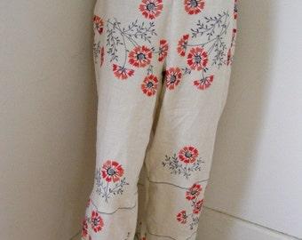 Hermans ECO Repurposed Pants XL women's Drawsring linen