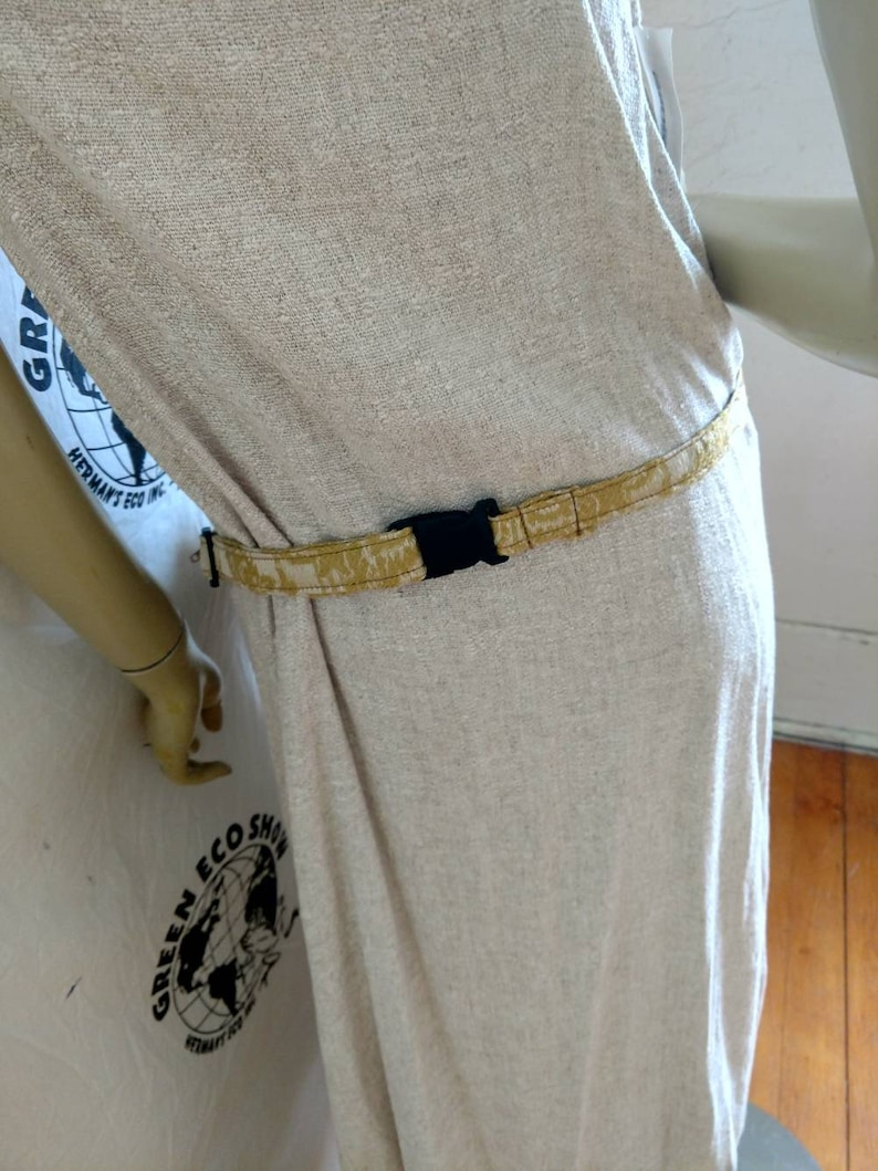 Fanny Pack Hermans Eco  Gold Lamee made in USA Cotton L