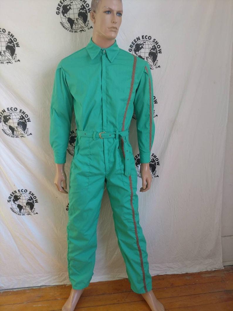 7998c24de1f Jumpsuit Mens Romper pants Med L X 31 by Herman ECO Green
