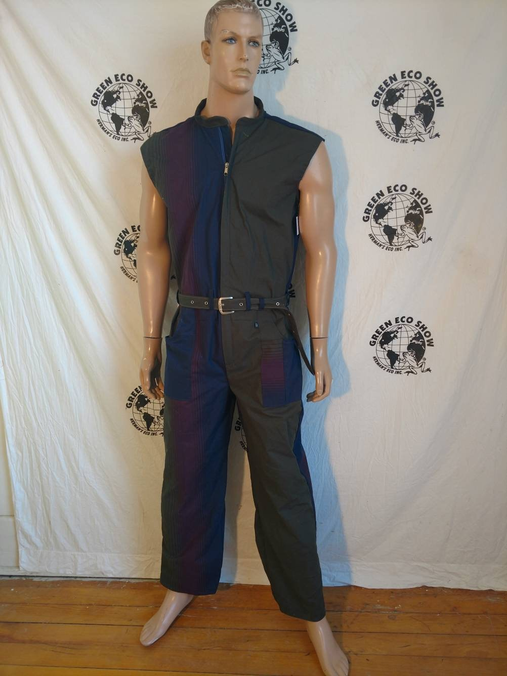 62763aa0dcd4 Mens Jumpsuit Romper Herman s Eco made in USA XL x 29