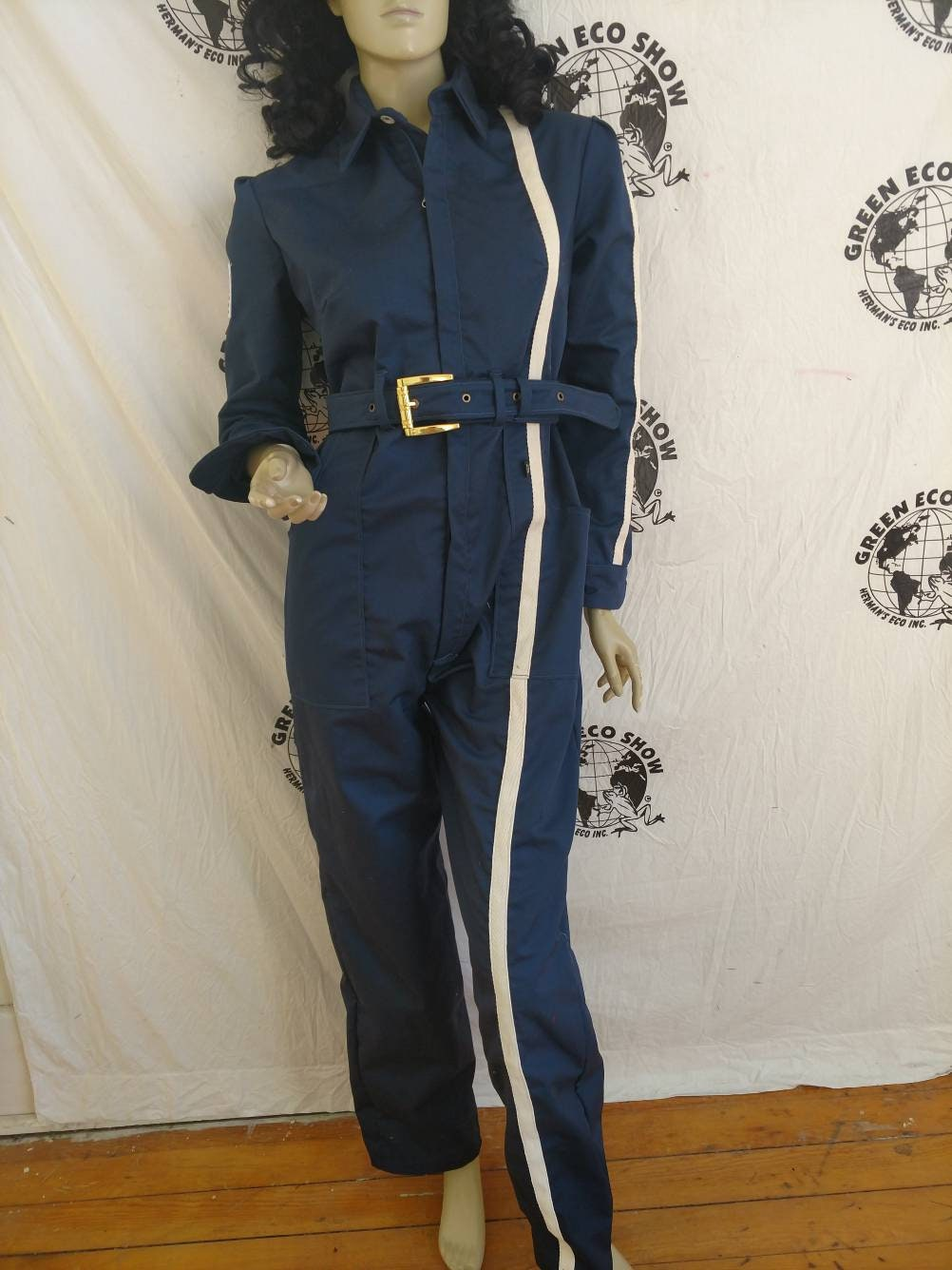 30370cca4d7 Womens Jumpsuit M X29 Anna Herman cottonblend made in USA