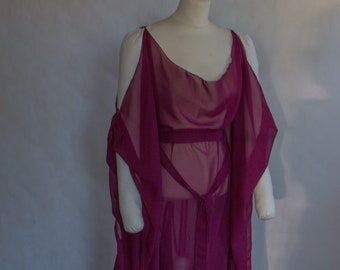 transparent dress for sensual boudoir or pregnancy shooting, sexy halloween costume, overdress for medieval fantasy larp garb, all sizes