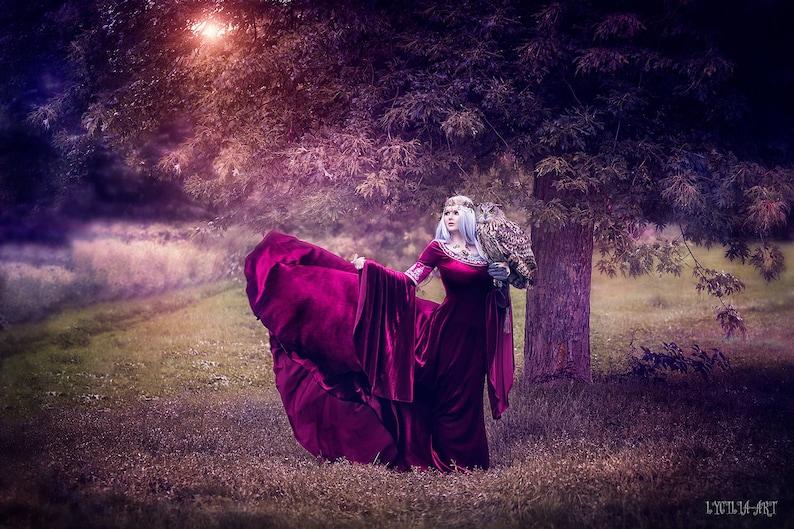 bb0bf66aab73 Elven bride dress elven wedding dress long sleeve wedding