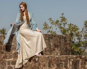 Elven coat Luthien Tinuviel, elvish dress, medieval dress, elvish wedding dress, elf cosplay, elven wedding dress, cosplay costume,