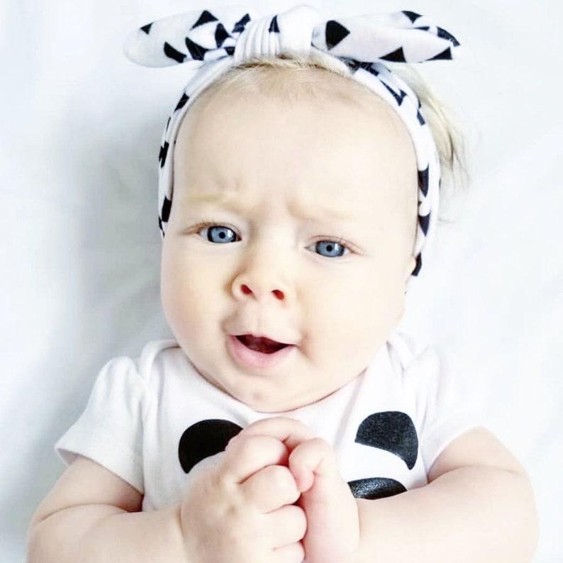 Adjustable Headband Baby Headband Toddler Girl Buffalo Plaid Headwrap Baby Girl Shower Gift Baby Girl Infant Headband Top Knot