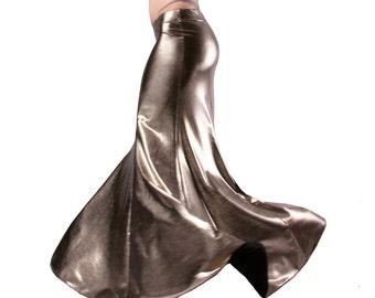 Skirt, Liquid Silver, Mermaid, Nouveau, Tribal, Fusion Bellydance, Cabaret, Cocktail
