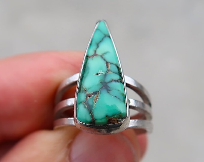 Sail Away Ring with Snowville Variscite in Size 8.25