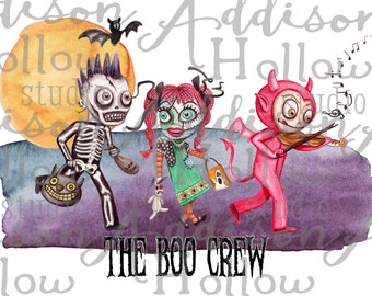 Halloween Kids Trick or Treat Sublimation Digital Design Template Instant Download