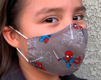 Small Kids Face Mask Spider-Man