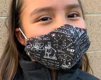 Small Kids Face Mask Chemistry Chalkboard