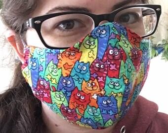 Face Mask Rainbow Cats