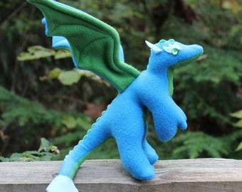 Vista the Blue Mini Stuffed Dragon