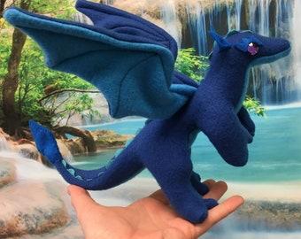 Cascade the Blue Mini Stuffed Dragon