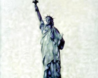 Lady Liberty - Polaroid SX-70 Manipulation - 8x8 Fine Art Photograph, Wall Decor