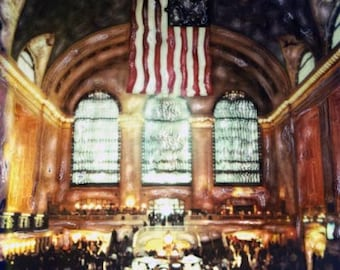 Grand Central Station - Polaroid SX-70 Manipulation - 8x8 Fine Art Photograph, Wall Decor
