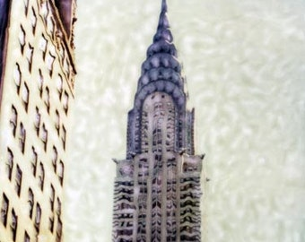 Chrysler Building - Polaroid SX-70 Manipulation - 8x8 Fine Art Photograph, Wall Decor