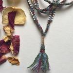 Watana Qero Woven Lariat Necklace with golden accents - Necklace // Wrap Bracelet