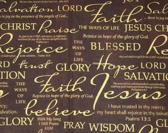 bible verse fabric etsy