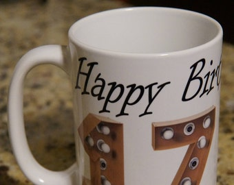 Happy Birthday Personalized Name & Age Full Color Mug
