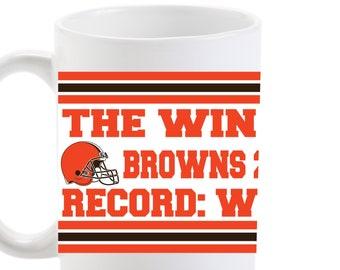 e1a1de82e94 THE WIN 2018 - Cleveland Browns Commemorative mug