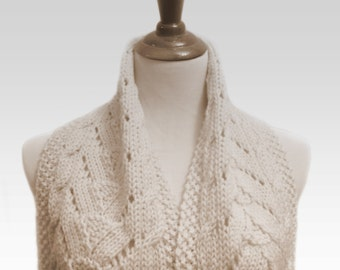 Cable Lace Scarf PDF Pattern