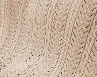 Grandmas Heirloom Aran Afghan, Knit Afghan, Aran Afghan, Knitting Pattern