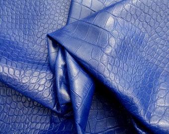 lambskin lamb sheep sheepskin leather hide skin Full Bodied Soft Royal Blue 3oz