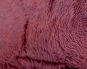 sheepskin leather hide Large Red Wine Curly Hair Karakul sheep w Suede back