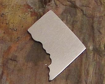 "5 Deburred 1"" X 1 1/4"" WASHINGTON DC *Choose Your Metal* Aluminum Brass Bronze Copper Nickel Silver Stamping Blanks"