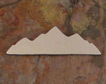 """20 qty 1 7/8"""" ROCKIES *Choose Your Metal* Aluminum Brass Bronze Copper Nickel Silver Stamping Blanks Finished Enameling mountains rocky hike"""