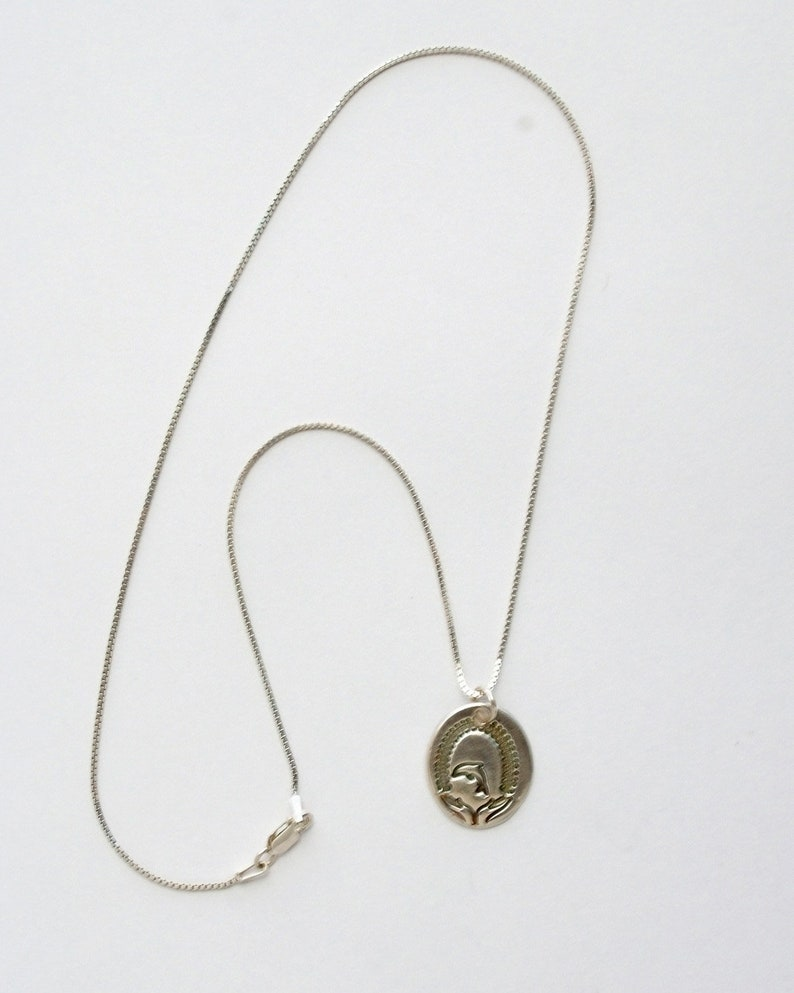 The Mermaid/'s Kin Silver Dolphin Necklace small slim fine silver charm on sterling chain with length options handmade dolphin charm