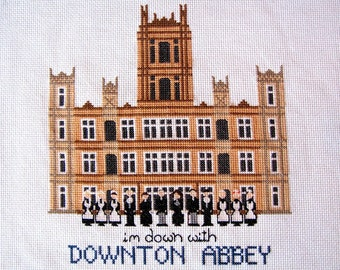 Downton Abbey Cross Stitch Pattern - Sales Benefit our Pollinator Conservation Work